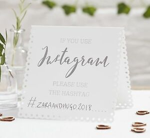 Image Is Loading Wedding Table Signs Instagram Tent Cards X 5