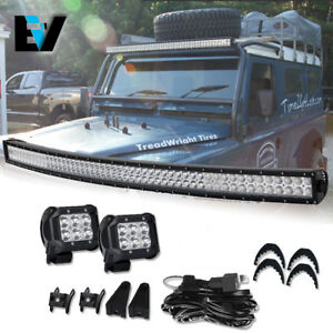 For-10-17-RAM-2500-3500-240W-54-034-Curved-LED-Light-Bar-cube-pods-Wiring