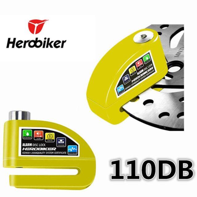 HEROBIKER Motorcycle Bike Alarm Brake Disc Anti-theft Lock Scotter Security