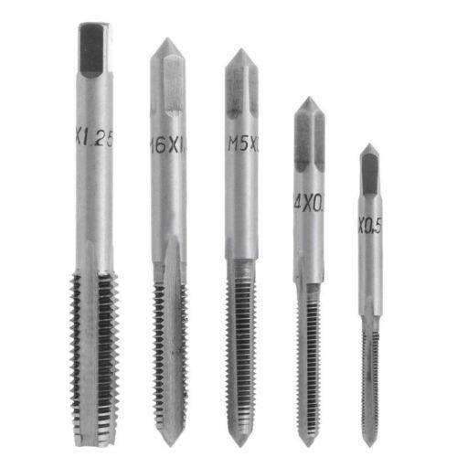 5x Gewindebohrer HSS M3//M4//M5//M6//M8 Handgewinde Bohrer Bohrersatz Drill Bit Tool