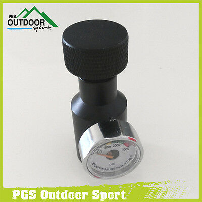 Paintball Co2 Fill Adaptor Remote On/Off 3000psi Gauge