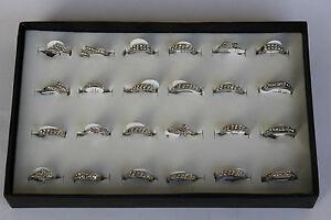 Modeschmuck-Ring-silberfarbend-Strass-Stein-Gr-16-19-Metalllegierung