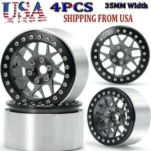 4-x-RC-2-2-034-Metal-Beadlock-Wheels-Rims-For-1-10-Axial-Wraith-SCX10-TRX-4-D90-Car