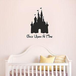 Disney-Chateau-once-upon-a-time-Mur-Art-chambre-de-filles-mignon-autocollant-sticker-fun