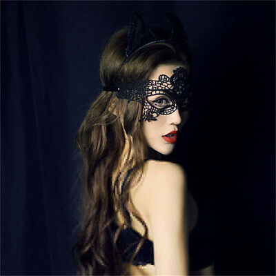 Black Sexy Eye Butterfly Mask nightclub Party Xmas Lace embroidery cutout veil