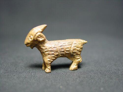 Vtg Brass Miniature Goat Mini Metal Figurine Farm Animal Doll Devil Beast Symbol