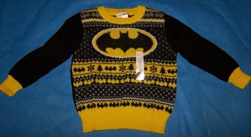 Size 3T Toddler Boys Ugly Christmas Sweater Jumping Beans DC Comics Batman