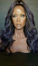 "22"" Lace Front Wig * Gun-Metal Gray & Lavender Ombre * 100% Brazilian Human Hair"