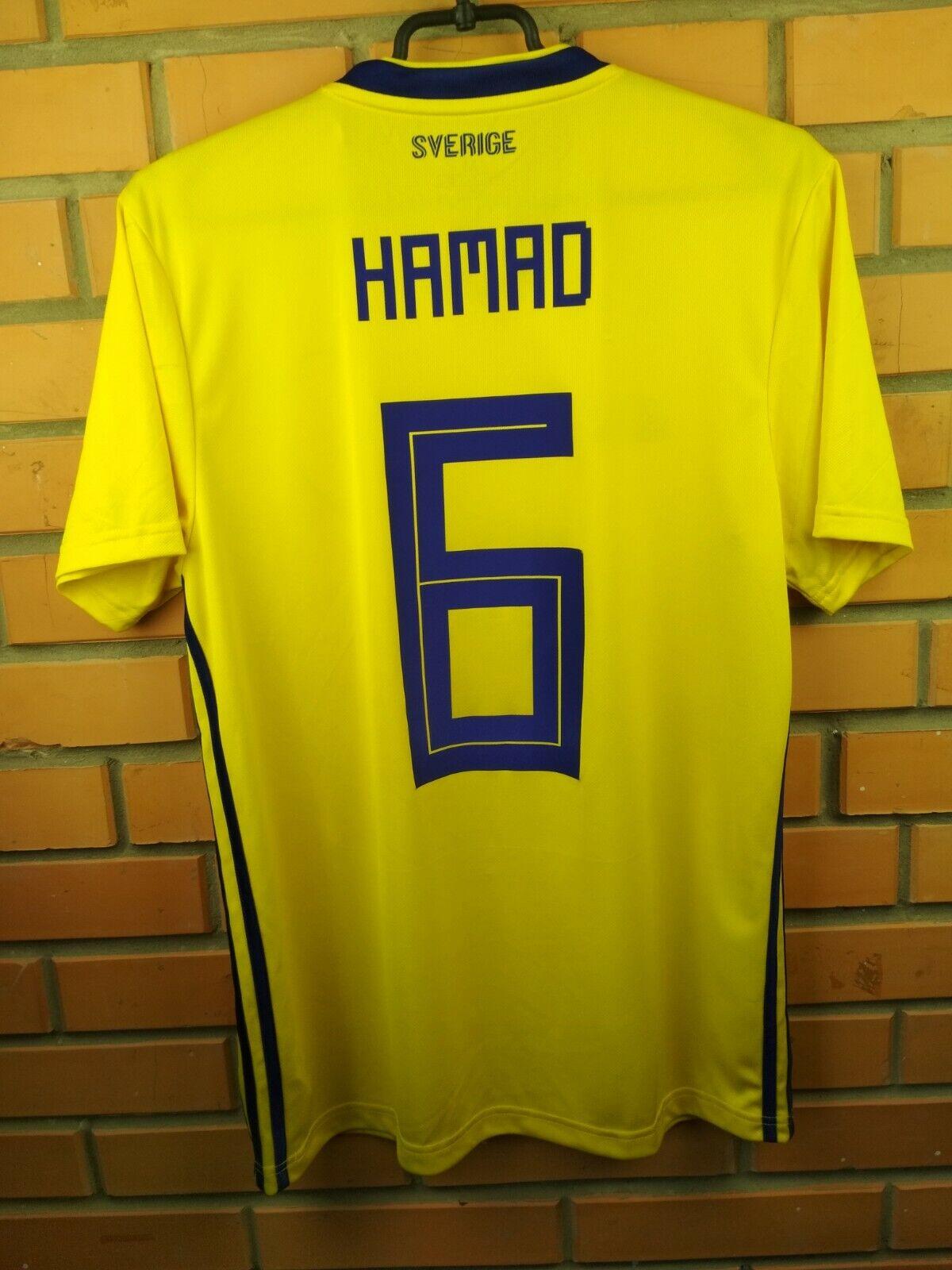 3fa25d621 Hamad Sweden soccer 2019 home shirt BR3838 football Adidas jersey medium  nvzmvf2295-Soccer-National Teams