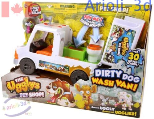 THE UGGLYS PET SHOP Dirty Dog Wash VAN SLOBBY SAINT-BERNARD series 1 NEW