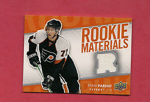 2007-08-UPD-RM-RP-FLYERS-RYAN-PARENT-ROOKIE-MATERIALS-JERSEY-CARD