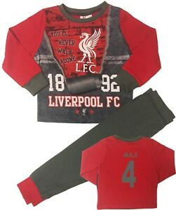 Boys Pyjamas /& Dressing Gown Liverpool LFC Football Official Set 3 to 12 Years