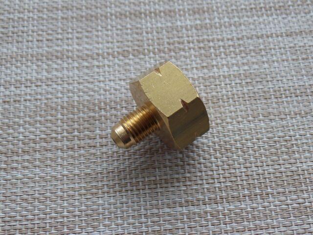 Flaschenadapter Reduzierventil Adapter für Kältemittel R134a 1//4 SAE R1234yf