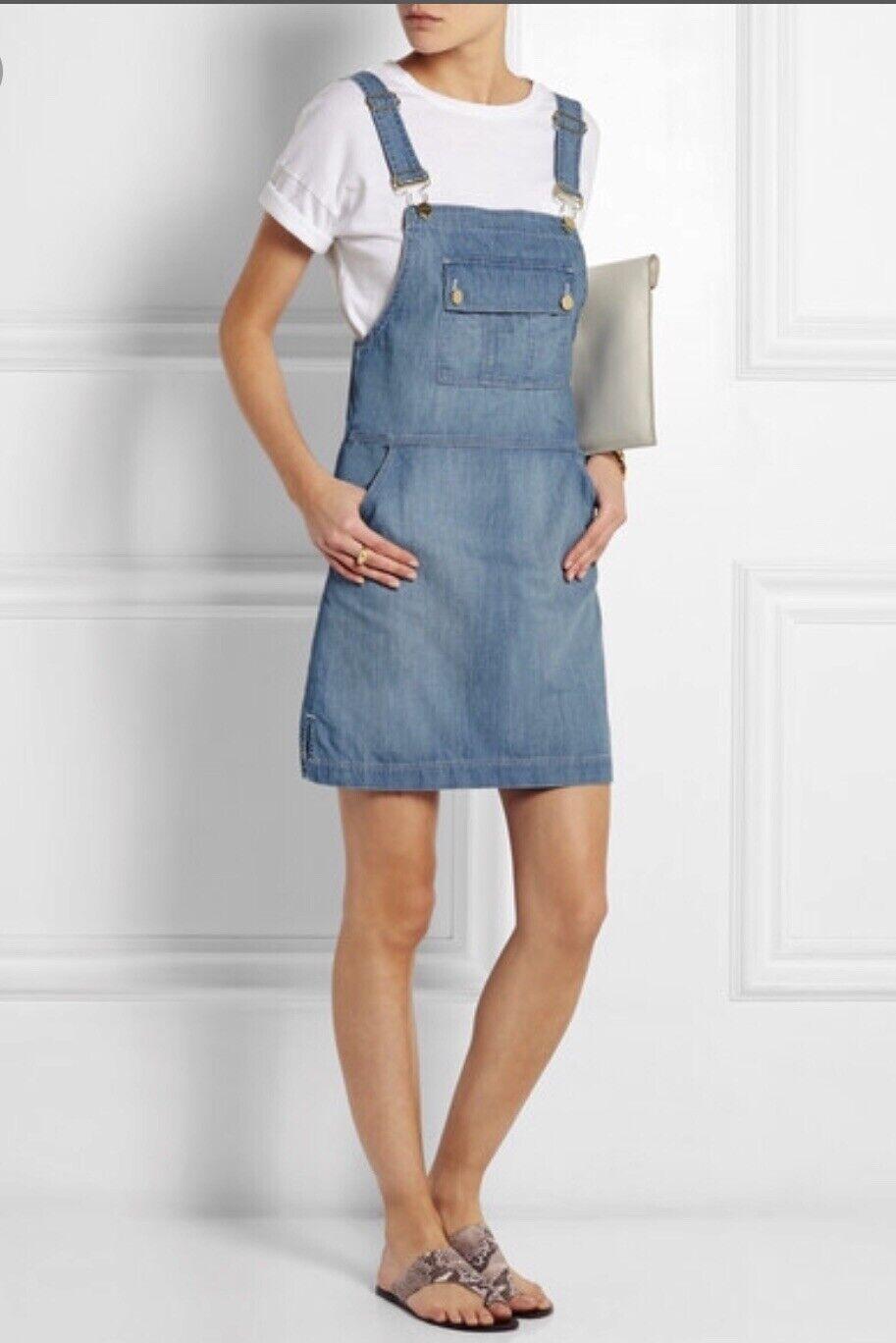 Frame Le apron Reese Soft Denim Overall Skirt Dre… - image 8