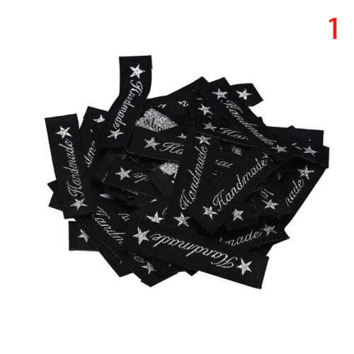 50X handmade labels tags fabric making sewing crafts for clothes decor DIY JAM
