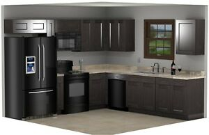 NEW! Rustic Grey Stained Barnwood Shaker Cabinets10x10 or ...
