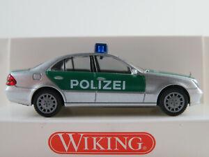 Wiking-10420-MERCEDES-BENZ-CLASSE-E-BERLINA-2002-034-POLIZIA-034-1-87-h0-Nuovo-Scatola-Originale