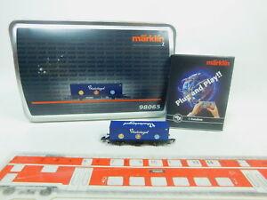 BP230-0-5-Maerklin-mini-club-Spur-Z-DC-98065-Containerwagen-Blausiegel-NEUW-OVP