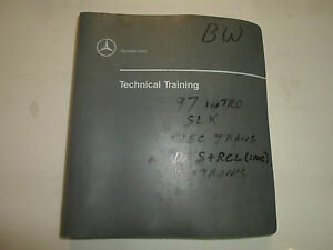 1997 Mercedes Benz Level One Update Technical Training Manual BINDER OEM FACTORY