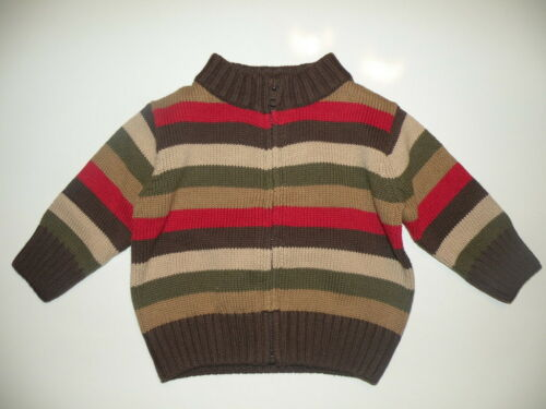 GYMBOREE EXTREME ANIMALS MULTI COLOR STRIPE CARDIGAN SWEATER 3 6 18 24 NWT