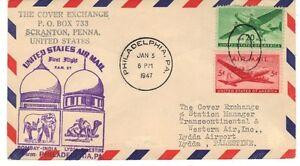 PALESTINE-US-INDIA-1947-1st-FLIGHT-PHILADELPHIA-TO-LYDDA-PALESTINE-amp-BOMBAY-INDIA