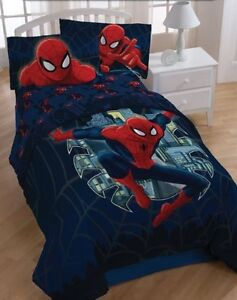 Spiderman Quilt Comforter Full Queen Marvel Comics Bedding