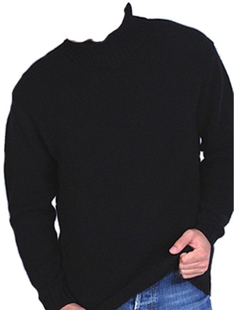 Balldiri 100% Cashmere Rollkragen Pullover 10-fädig schwarz S