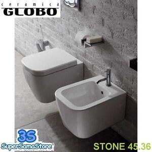 Ceramica Globo Space Stone.3s Wc Sedile Bidet Sospesi Space Stone 45 Cm Ceramica Globo Sss03