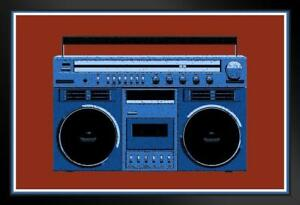 ProFrames-Boombox-Pop-Art-Blue-Radio-Music-Framed-Poster-12x18