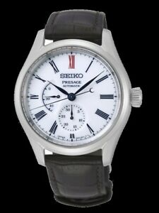 Seiko-Presage-Power-Reserve-Ind-Arita-Porcelain-Dial-White-Men-039-s-Watch