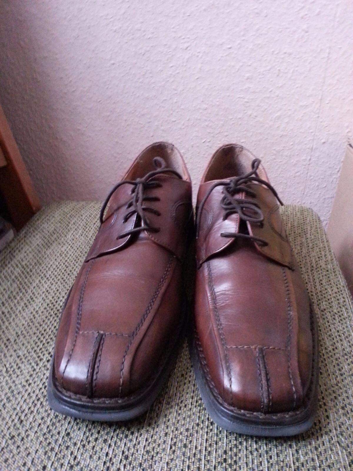 C&A Canda Herren Schuhe Schnürschuhe Gr 43 Obermaterial+ Futter echt Leder braun