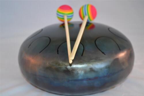 Handpan Steel Tongue Drum Tank 9 Tones 21 cm 8,3 Free Sticks Bag Amazing Sound