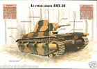 Armored AMX 38 Leger 16,5 Tonnes Aster France WWII 1938-1940 FICHE CHAR TANK