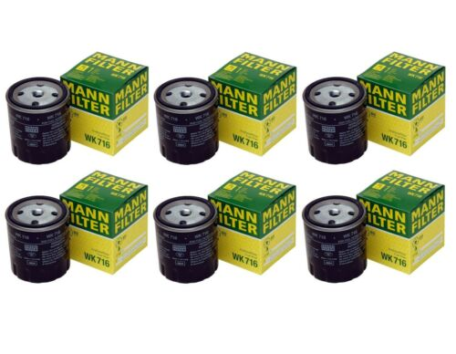 NEW Set of 6 Fuel Filters WK716 Mann For Mercedes Benz W123 W126 240D 300CD