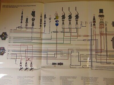 2002-2004 Mercury Outboard 30 40 Wiring Harness Diagram ...
