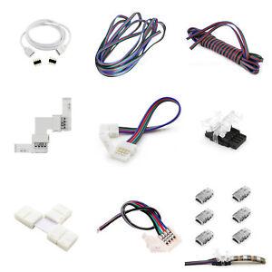 Zubehör für LED RGB Stripe 4Pin Verbinder Brücken Adapter Steckverbinder Kabel