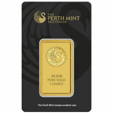 1 oz Perth Mint Gold Bar (New w/ Assay)
