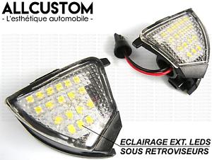 led eclairage blanc xenon sous retroviseurs pour vw golf 5. Black Bedroom Furniture Sets. Home Design Ideas