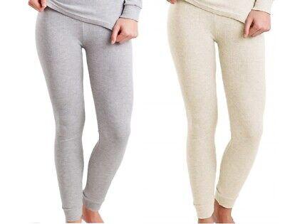 L Sonstige 2x Damen Lange Thermo Unterhose Schlafhose Warm Innen Angeraut Lang Gr Damenunterwäsche