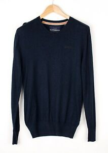Superdry Hommes Coton Cachemire Tricot Pull TAILLE S BCZ495