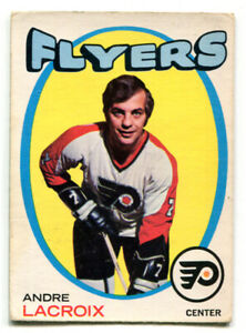 1971-72 OPC Andre LaCroix Card #33 Philadelphia Flyers