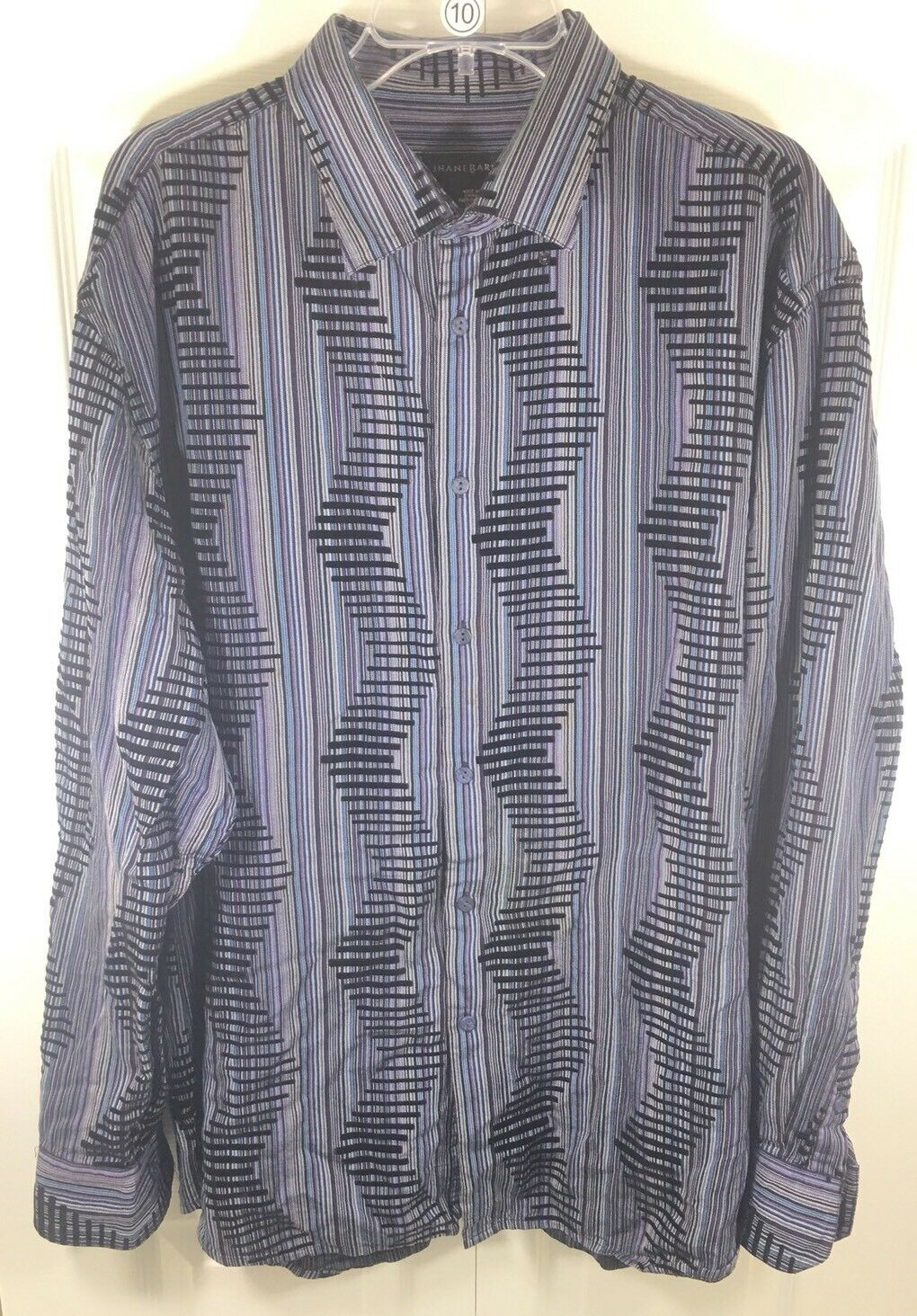 Jhane Barnes Casual Shirt Size xxl  ttg multi color long Sleeve Shirt