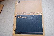 Cat Caterpillar 992c Front End Wheel Loader Owner Maintenance Manual Book Guide