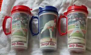 3-Pair-of-Whirley-St-Louis-Cardinals-Plastic-Thermo-Mugs