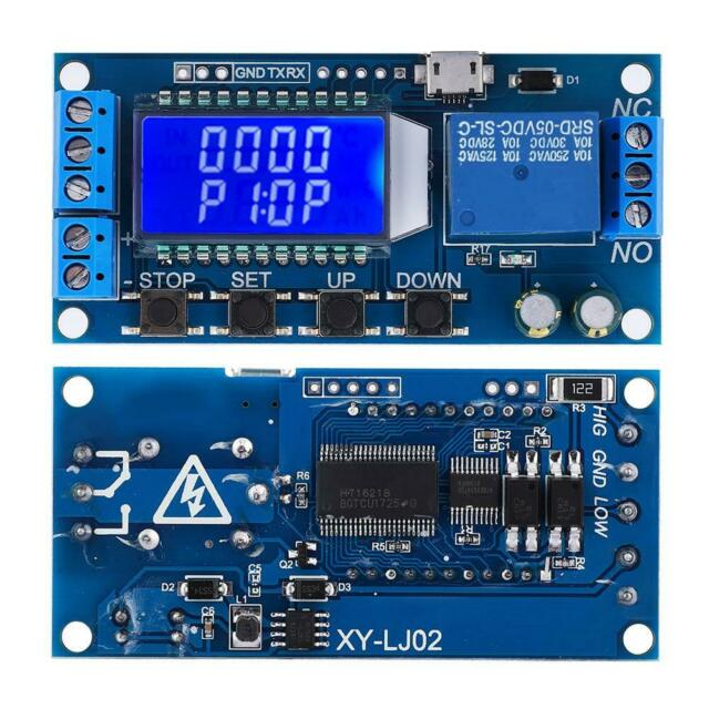 Lcd Digital Timer Relay Delay Module Time