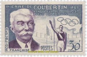 EBS-France-1956-Summer-Olympics-Melbourne-Pierre-de-Coubertin-YT-1088-MNH