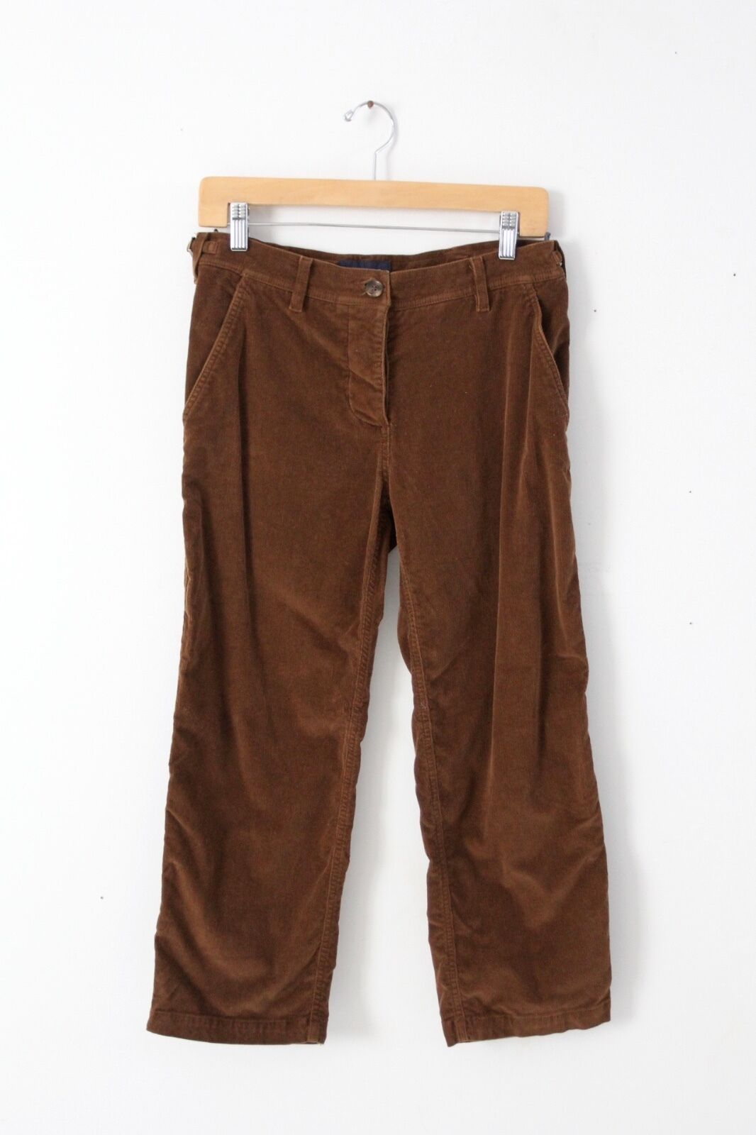 Piazza Sempione corduroy pants, cropped cord trousers brown size 44 (US 8)