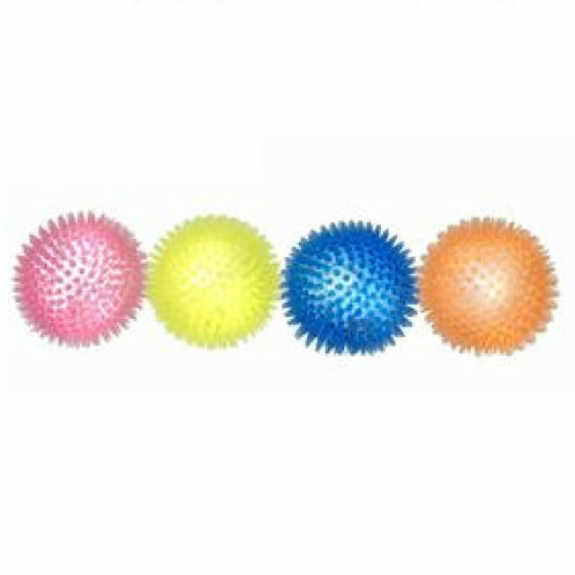 Spikey Flashing Bouncy Ball LED Internal Light Rubber Hedgehog Bouncing Dog Fun