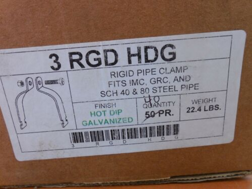 "LOT OF 5  Rigid 3/"" Conduit Pipe Clamps"