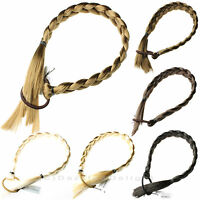 PONYTAIL HAIR EXTENSIONS NOT CLIP IN LONG PONY TAIL HAIR PIECE ON ELASTIC PLAIT